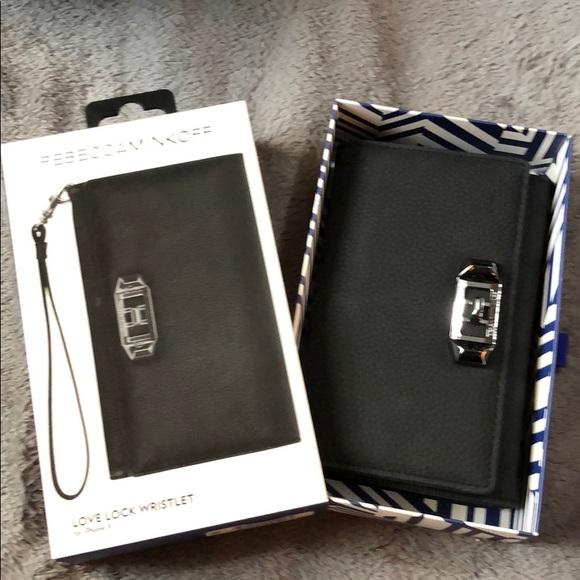 sale retailer fa260 b87c5 Rebecca Minkoff Love Lock Wristlet for I phone X NWT